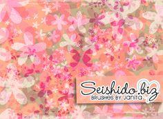 FREE Seishido.biz Distressed Flower Brushes
