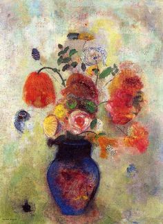 "windypoplarsroom:  Odilon Redon ""Bouquet of Flowers"""
