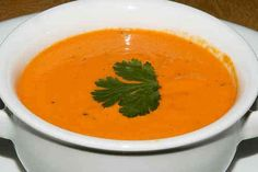 http://www.steffensdinners.com/content/roasted_bell_pepper_and_tequila_soup