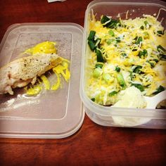 Meal prep for the week is done. Meal 3 of 6. 3oz chicken 1/3 cup grits green onions and a little cheese. I like my grits cold just like my oatmeal. .#mealprep #lifter #lifter #lifterproblems #cleaneating #healthy #health #eattogrow #eattolose #gymlife #gymrat #girlswholift #gymratproblems #girlswithmuscles #gains #timetogetfit #timetogetlean #prep #strongnotskinny #squats #fit #mealprepsunday #done #gaintrain by miss_krissy0