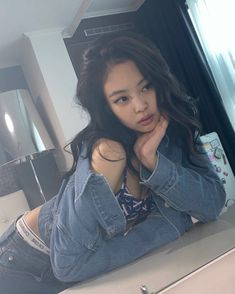 Blackpink Jennie Calvin Klein 💫🌟✨ South Korean Girls, Korean Girl Groups, You Are So Pretty, Moving To New Zealand, Jennie Blackpink, 2 Girl, Yg Entertainment, American Group, Calvin Klein