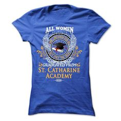 A WOMAN who graduated from St. Catharine Academy - #grafic tee #sweatshirt ideas. BEST BUY => https://www.sunfrog.com/LifeStyle/A-WOMAN-who-graduated-from-St-Catharine-Academy-Ladies.html?68278