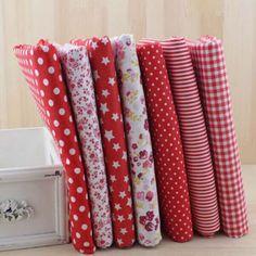 Multicolor Cotton Quilt Cloths Serie Assorted Pre-Cut Plain Fabrics for Sewing