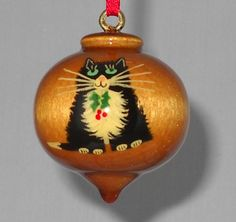 Personalized Cat Christmas Ornament by TreeTreasuresCanada on Etsy