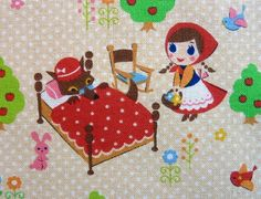 Little Red Riding Hood fabric from Japan