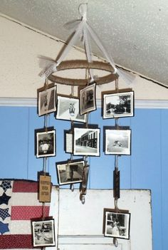 DIY~ Vintage Photo Mobile- Great gift idea or decor idea for a family party or holiday~