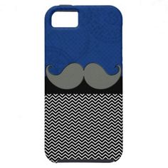 Retro Funky Mustache iPhone 5 Cover