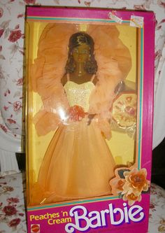 1984 Mattel Black Barbie Peaches 'n Cream #9516 - African American Barbie #Mattel #DollswithClothingAccessories