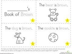 Worksheets: The Color Brown