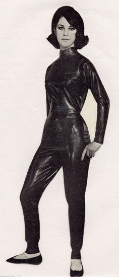 Vintage latex suit