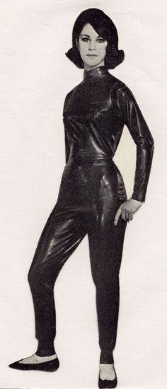 Vintage latex suit