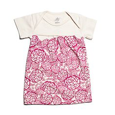 Oh Joy for Winter Water Factory Short Sleeve Baby Dress - Fuchsia | Winter Water Factory