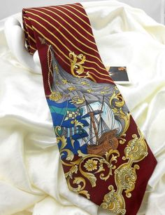 Classic in.) Novelty Ties for Men Pirate Fashion, Novelty Ties, Mens Silk Ties, Ship, Classic, Accessories, Ebay, Derby, Ships