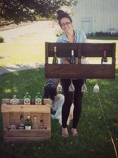 DIY: Wine Rack - LOVE this!!