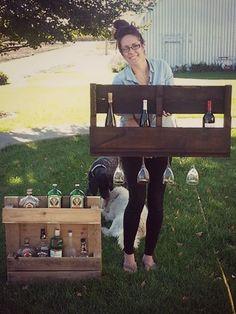 DIY: Wine Rack - LOVE this!!