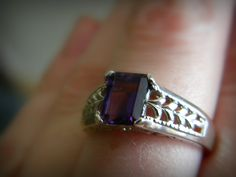 Amethyst in Sterling silver from Diana Jewelers in Syracuse, New York