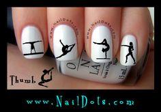 Gymnastics nail decals