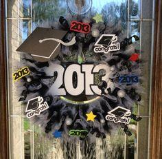 2013 Congrats Graduation Wreath by CraftyCrystalDesigns on Etsy, $50.00