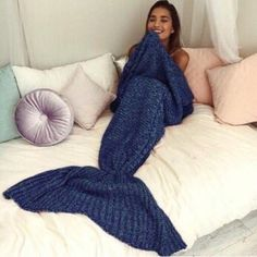 Pre-Order MERMAID TAIL BLANKET I have one dark blue and one light blue mermaid tail blanket! Super soft and warm. Trending on Twitter! Brandy Melville Other