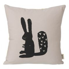 Rabbit Cushion Grey / Black by Ferm Living - Design furniture and decoration with Made in Design