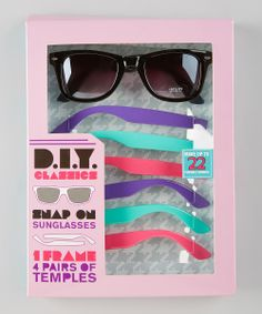 Purple Neon Snap-On Sunglasses Set | Daily deals for moms, babies and kids