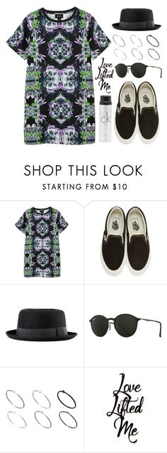 """""""Sin título #12811"""" by vany-alvarado ❤ liked on Polyvore featuring Monki, Vans, H&M, Ray-Ban, Just Acces and Calvin Klein"""