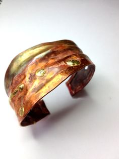 Fold-formed Cuff from recycled copper.