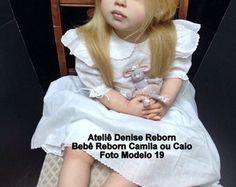 Boneca Bebê Reborn Camila com meio torso