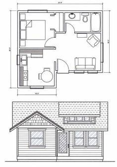 Image result for tiny house floor plans under 400 sq ft