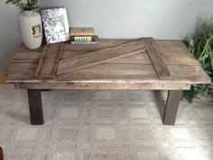 Barn Door Coffee Table By Reclaimvintagecharm On Etsy 260 00