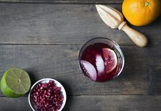 Pomegranate Gin and Tonics are a simple and romantic Valentine's Day cocktail! Pomegranate juice creates a beautiful red hue. Homemade Almond Butter, Make Almond Milk, Pomegranate Cocktails, Pomegranate Juice, Gin & Tonic Cocktails, Gin And Tonic, Side Dishes For Fish, Big Meals, Food Trends