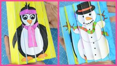 Agamograph Winter Craft for Kids with Printable Template