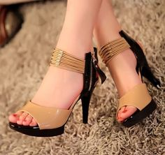 stiletto heel sandals from sniksa Open Toe High Heels, Black Strappy Heels, Sexy Heels, Stiletto Heels, Latest Ladies Shoes, Shoe Boots, Shoes Heels, Stylish Sandals, Ankle Wrap Sandals