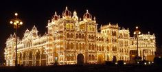 'Mysore Dasara (2nd October - 11th October 2016)' - The 10 day long traditional festival dedicated to Goddess Chamundeshwari.   The main attraction of the ten-day Mysore Dasara festival is the Mysore Palace which is illuminated daily with nearly 100,000 light bulbs from 7 pm to 10 pm on all days of the #festival. Nearly 10 million is spent towards maintenance of its #illumination alone every year. #MysorePalace #MysoreDasara #festivalsinIndia #festiveseason #travelling #travel #India #Mysore