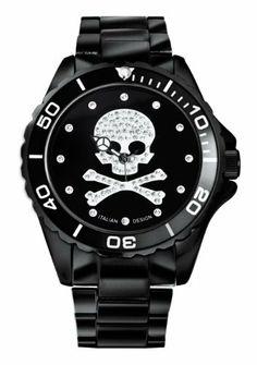 Haurex Italy Women's 7K374DNS Ink Black Aluminum Crystal Skeleton Bracelet Watch Haurex. $124.99. Luminous hands. Water-resistant to 165 feet (50 M). Crystalized skeleton and hour markersLuminous handsHigh quality aluminum bracelet. Crystalized skeleton and hour markers. High quality aluminum bracelet. Save 74% Off!