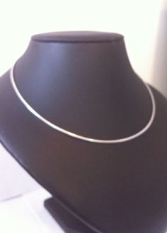 omega silver necklace 925 sterling silver 18inches x 1.5mm oval bobin boutique