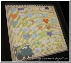 Shadowbox Art from Baby Cards