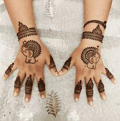 Baby Mehndi Design, Mehndi Designs Front Hand, Pretty Henna Designs, Mehndi Designs For Kids, Latest Henna Designs, Henna Tattoo Designs Simple, Mehndi Designs Feet, Henna Art Designs, Mehndi Designs For Beginners