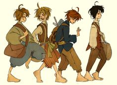 Hobbits by ~MadLibbs on deviantART