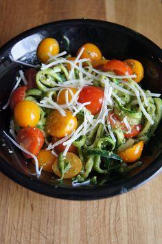 Zucchini Noodles with Kale Pesto (gluten-free)