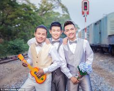 The newlyweds took the plunge on Valentines Day when they exchanged vows in Uthai Thani, Thailand