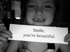 Hayla smile you are beautiful.God made you the way you are for a reason.he made you in his own image. Rss Feed, Tumblr, The Way You Are, You're Beautiful, Beautiful Things, Beautiful People, Make Me Happy, Make You Smile, Wise Words