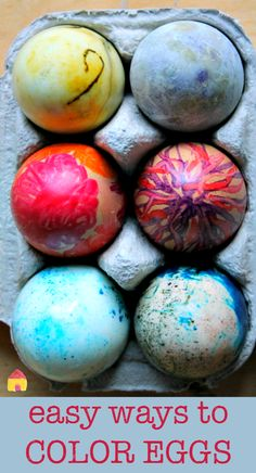Gorgeously easy ways to dye Easter eggs