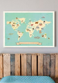 SALE 15% OFF Global Compassion World Map 24x18 by ChildrenInspire
