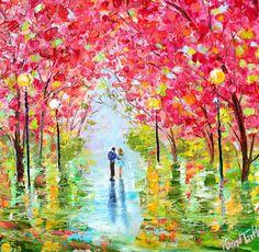 Original oil painting Spring Romance by Karen's Fine Art – Gallery Represented…