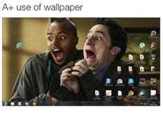 A+ use of wallpaper