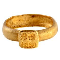 Byzantine Ring With A Double Portrait
