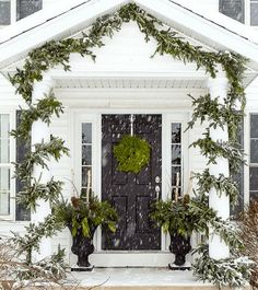 The Most Magical Christmas Decor Ever - laurel home | classic white home beautifully decorated for Christmas via: justagirlblog on instagram