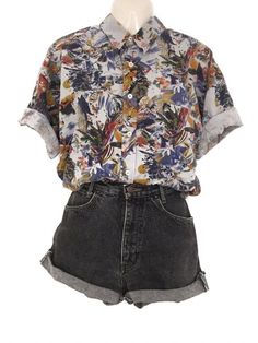 True Vintage Hawaii Look Oversize Muster Hemd Bluse Kurzarm Sommer Hippie Urban Street Unisex Vintage Outfits, Retro Outfits, Casual Outfits, Fashion 90s, Fashion Outfits, Hawaii Fashion, Hippie Chic Outfits, Outfits Damen, Hippie Man