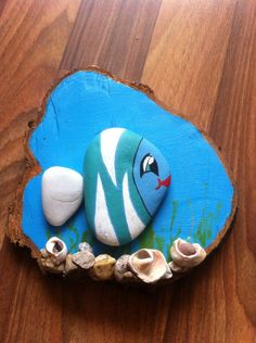 Easy paint rock for try at home (stone art & rock painting ideas Pebble Painting, Pebble Art, Stone Painting, Stone Crafts, Rock Crafts, Arts And Crafts, Rock Painting Ideas Easy, Rock Painting Designs, Art Pierre